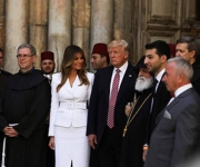 The photos of Wajeeh Nuseibeh at the reception of Trump in the church of the holy Sepulchre.