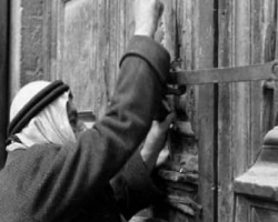 Aref Nuseibeh , custodian of the key for the Church in 1951