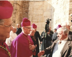 The Latin Patriarch, the Apostolic Nuncio with Mr.Wajeeh Nuseibeh 2012